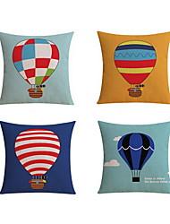4 pcs High Quality Linen Pillow Case Body Pillow Travel Pillow Sofa Cushion Novelty PillowStill Life Graphic PrintsBeach Style Tropical