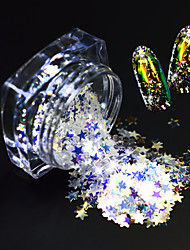 cheap -1 Bottle Fashion Beautiful Nail Art Glitter Star Paillette Shining Thin Slice Lovely Star Design Magical Dazzling Slice Decoration SZ03