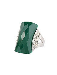 preiswerte -Damen Ring Schwarz Grün Diamantimitate Aleación Schwan Rechteck Euramerican Modisch Hochzeit Geburtstag Geschenk Normal Modeschmuck
