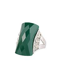 Women's Ring Fashion Euramerican Imitation Diamond Alloy Rectangle Swan Jewelry 147 Wedding Birthday Gift Casual