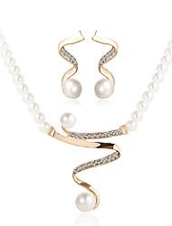 economico -Per donna Set di gioielli I monili nuziali Collana / orecchini Strass Perle finte Lusso Pendente Cerchio Perle finte Di tendenza