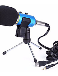 cheap -MK-F200FL Audio Sound Recording Condenser Microphone With Shock Mount Holder Clip  3.5mm Audio USB Dual Cable Micphone