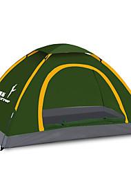 Недорогие -FLYTOP 3-4 человека Световой тент Один экземляр Палатка Однокомнатная Складной тент Водонепроницаемость С защитой от ветра