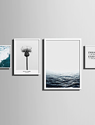 cheap -E-HOME® Framed Canvas Art   Simple Sea And Plant Series (3) Theme Series Framed Canvas Print One Pcs