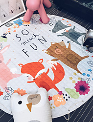 Cars Fox Toys Storage Bag Kids Game Mats diameter 1.5m baby Crawling multifunctional round blanket Play Rug/Mat