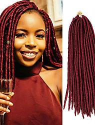 economico -dreadlocks Trecce di capelli Treccine a boccoli L'Avana 35cm 45cm Dread piccoli finti Estensioni di Dreadlock Dread finti Capelli 100%