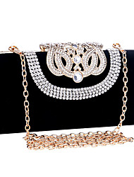 cheap -Women Bags Polyester Evening Bag Crystal/ Rhinestone for Wedding Event/Party Formal All Seasons Blue Black Red Violet