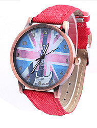 cheap -Women's Wrist Watch Quartz Hot Sale Leather Band Analog Casual Fashion White / Red - White Red