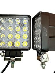 Ziqiao 1 stk 4 tommer 48w led arbejdslampe til indikatorer motorcykel kørsel offroad båd bil traktor lastbil 4x4 suv atv oversvømmelse 12v