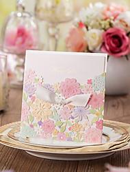 cheap -Wrap & Pocket Wedding Invitations 50-Program Fan Wedding Menu Invitation Cards Thank You Cards Response Cards Invitation Sample Greeting