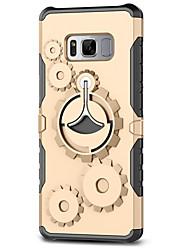 Недорогие -Кейс для Назначение SSamsung Galaxy S8 Plus S8 Защита от удара Кольца-держатели Задняя крышка броня Твердый PC для S8 S8 Plus S7 edge S7