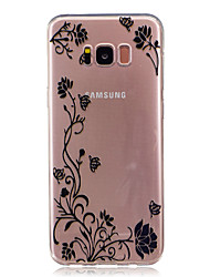 cheap -For Samsung Galaxy S8 Plus S8 Case Cover Butterfly Love Flower Pattern HD Painted High Penetration TPU Material Soft Case Phone Case S7 S6 Edge S7 S6