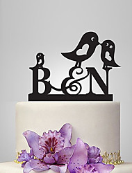 cheap -Cake Topper Garden Theme Classic Theme Fairytale Theme Monogram Acrylic Wedding Anniversary Bridal Shower With OPP