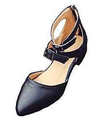 economico -Da donna Sandali Club Shoes PU (Poliuretano) Primavera Estate Casual Formale Club Shoes Fibbia Cerniera Basso Bianco Nero Meno di 2,5 cm