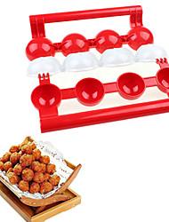 Newbie Meatballs Mold Maker Food-Grade Plastic Fish Balls Handmade Meat Ball Mold DIY Kitchen Tools