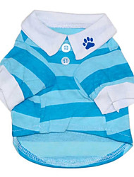cheap -Cat Dog Shirt / T-Shirt Dog Clothes Casual/Daily Stripe Red Blue Costume For Pets