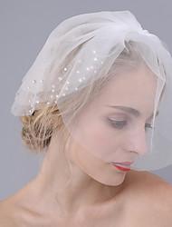 economico -3 strati Bordo tagliato Veli da sposa Veletta Con Glitter Tulle