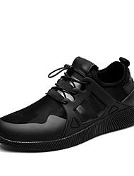 economico -Da uomo-Sneakers-Tempo libero Casual Sportivo-ComodaFinta pelle-Nero Grigio Nero/Rosso
