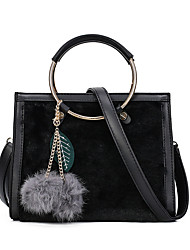 Women Bags All Seasons Other Leather Type Shoulder Bag for Casual Black Gray