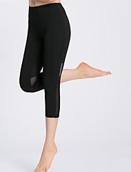 Per donna Pantaloni da corsa Asciugatura rapida Traspirante Morbido Comodo 3/4 Collant/Corsari per Yoga Campeggio e hiking Esercizi di