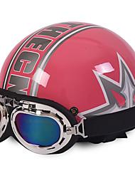 cheap -Motorcycle Helmets Open Face Half Motorbike & Goggles Helmet Unisex New Summer Vintage