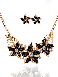 cheap -Women's Jewelry Set - Flower Basic Include Black / Dark Blue / Purple For Party / Special Occasion / Casual
