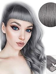 Недорогие -На ленте Расширения человеческих волос Прямой Накладки из натуральных волос Натуральные волосы Серый