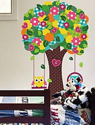 cheap -Animals Botanical Cartoon Wall Stickers Plane Wall Stickers Decorative Wall Stickers, Vinyl Home Decoration Wall Decal Glass/Bathroom Wall
