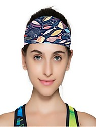 Недорогие -Двусторонняя шапка Повязки от пота Жен. Впитывает пот и влагу Удобный для Йога Спорт в свободное время Бег Мода Эластан Терилен