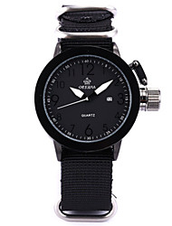 Недорогие -Муж. Модные часы Кварцевый Цифровой силиконовый Нейлон Черный 30 m Аналоговый Белый Черный