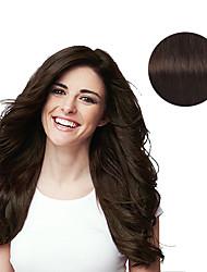 billiga -9st / set deluxe 120g # 2 mörkbrunt klipp i hårförlängningar 16inch 20inch 100% mänskligt hår