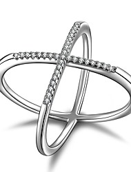 cheap -2017 New  X  Fashion Silver Statement Rings AAA Cubic Zirconia Unique Design  Statement Jewelry For Women