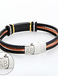 cheap -Manufacturer wholesale stainless steel orange Wire Bracelet Fashion bar group custom lettering Bracelet