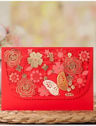 Pli Parallèle Horizontal Invitations de mariage Cartes Rappel d'Invitation de Mariage Enveloppe Autocollant d'enveloppe Programme Fan