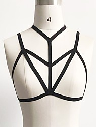 cheap -Women's Body Jewelry New Sexy Lingerie Goth Traverse Elastic Bandage Harness Cage Bra Body Chain Necklace For Women's Summer Beach Jewelry