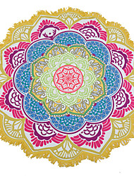 Indian Mandala Beach Towel Large Lotus Printing Towel Beach Round Pool Home Shower Towel Blanket 150Cm