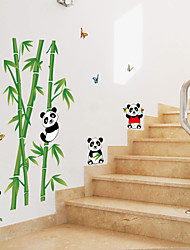 cheap -Animals Cartoon Botanical Wall Stickers Plane Wall Stickers Decorative Wall Stickers, Paper Home Decoration Wall Decal Wall Glass/Bathroom
