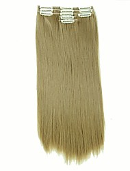 cheap -False Hair Extension 11 Clips Clip in Hair Extensions Synthetic Hair Apply Hairpiece 22 Long Straight Hairpieces D1020 24/27#