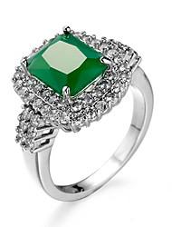 preiswerte -Damen Smaragd Smaragdfarben Aleación Ring - Anderen Einzigartiges Design Euramerican Modisch Für Hochzeit Besondere Anlässe Jahrestag