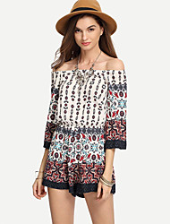 Women's Beach Going out Casual/Daily Rompers,Sexy Vintage Street chic Wide Leg Fashion Summer