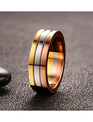 cheap -Vintage Simple Rose Gold Titanium Steel Ring Jewelry For Man And Woman  Wedding Anniversary Party/Evening Engagement