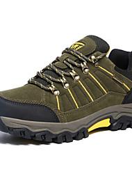 abordables -Hombre Zapatillas de Atletismo Confort Ante Primavera Otoño Deportivo Senderismo Confort Tacón Plano Verde Ejército Plano