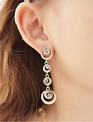 Drop Earrings Women's Girls' Euramerican Round Elegant Rhinestone Alloy  Earrings Movie Party Daily Casual Jewelry