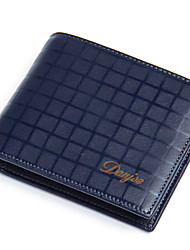 cheap -Men's Bags Cowhide Leather & Metal Crafting / Wallet Tiered for Office / Career / Daily / Casual Deep Blue