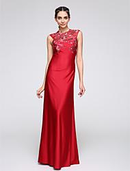 economico -A sirena Con decorazione gioiello Lungo Jersey Cocktail / Serata formale Vestito con Con applique di TS Couture®