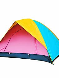 3-4 persone Tenda Doppio Tenda da campeggio Una camera Tenda ripiegabile Antiumidità Ompermeabile per Campeggio All'aperto Al Coperto