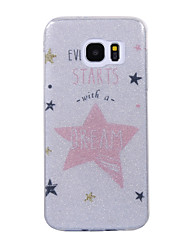 cheap -For Samsung Galaxy S8 S8 Plus Case Cove Star Pattern Flash Powder IMD Process TPU Material Phone Case S7 S6 Edge