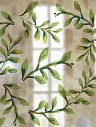 cheap -Trees/Leaves Contemporary Window Sticker, PVC/Vinyl Material Window Decoration Dining Room Bedroom Office Kids Room Living Room Bath Room