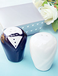cheap -Bride and Groom Salt and Pepper Shakers Set Wedding Favor 8.5*5.5*4.5cm/box Beter Gifts® Life Style