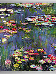 cheap -Hand-Painted   Oil Painting  Claude Monet Waterlilies